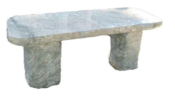 Stone Age Creations BE-OS-3 Ocean Surf Polished Jade Stone Boulder Bench