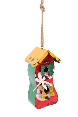 Think Outside Bird Hideaway Birdhouse Handmade Metal Sculpture