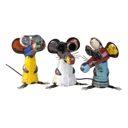 Think Outside 3 Blind Mice Metal Art Set of 3 Indoor & Outdoor