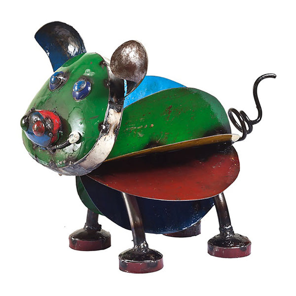 Think Outside Pete the Pig Handmade Scrap Metal Sculpture