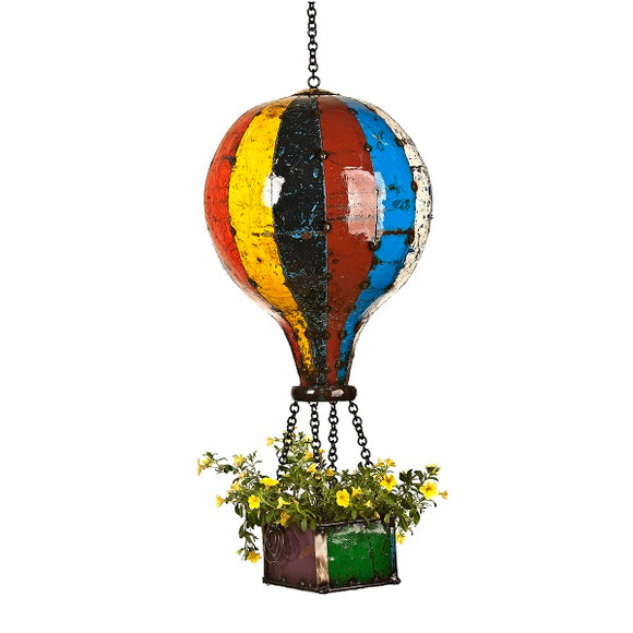Think Outside Hot Air Balloon Large Handmade Scrap Metal Planter