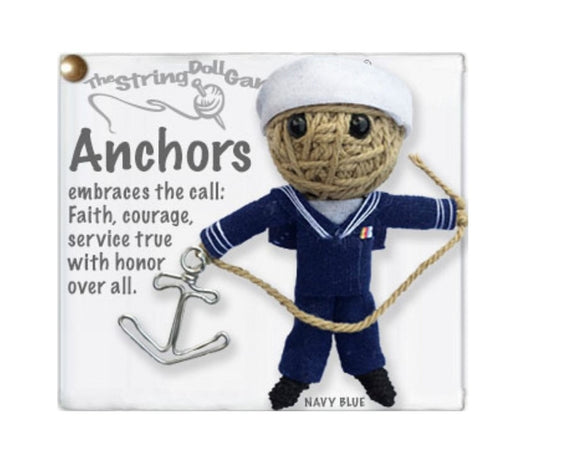 Kamibashi Anchors the Sailor The Original String Doll Gang Keychain Clip