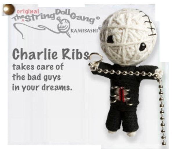 Kamibashi Charlie Ribs The Original String Doll Gang Keychain Clip