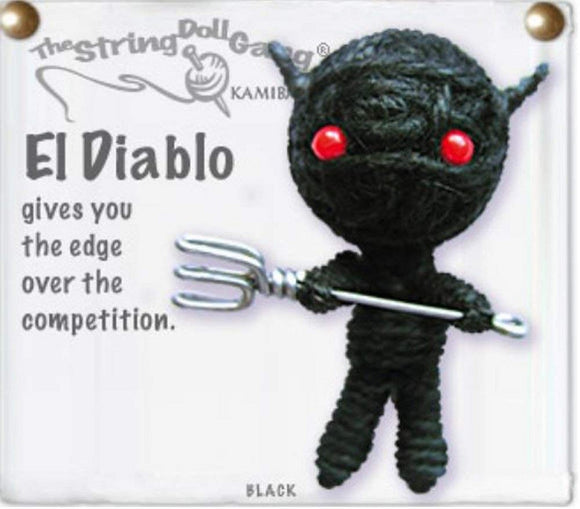 Kamibashi El Diablo the Devil The Original String Doll Gang Keychain Clip