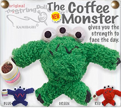Kamibashi Coffee Monster with Mug The Original String Doll Gang Keychain Clip