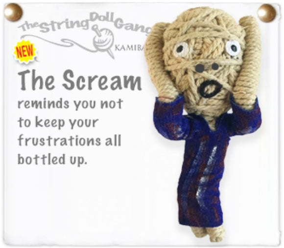 Kamibashi The Scream Painting The Original String Doll Gang Keychain Clip Toy