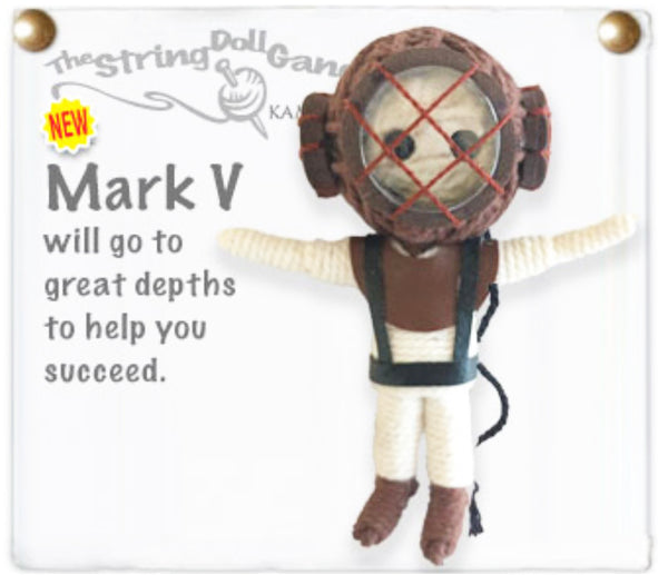 Kamibashi Mark V Scuba Diver The Original String Doll Gang Keychain Clip Toy