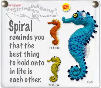 Kamibashi Spiral The Seahorse Original String Doll Gang Handmade Keychain Toy & Clip