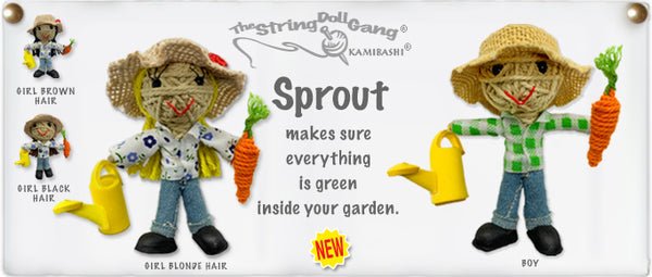 Kamibashi Sprout The Gardener Girl Original String Doll Gang Handmade Keychain Toy & Clip