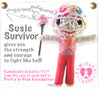 Kamibashi Susie Breast Cancer Survivor Pink Ribbon The Original String Doll Gang Keychain Clip