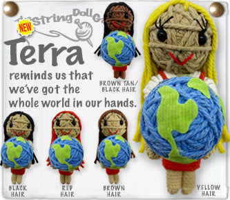 Kamibashi Terra The World Original String Doll Gang Handmade Keychain Toy & Clip