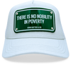John Hatter & Co The Wolf of Wall Street There is No Nobility in Poverty White Adjustable Baseball Cap Hat