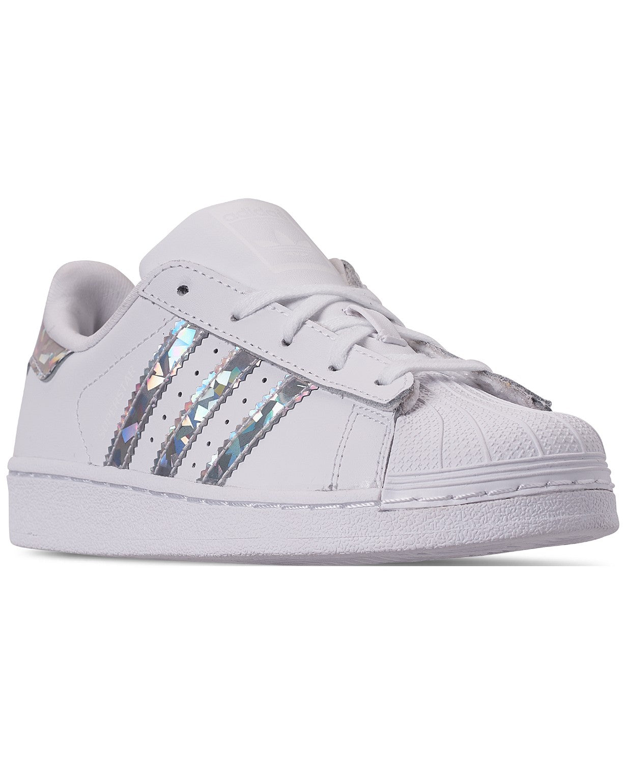 NWT Adidas CG6708 Superstar Preschool White Low Top Sneakers Size 12K