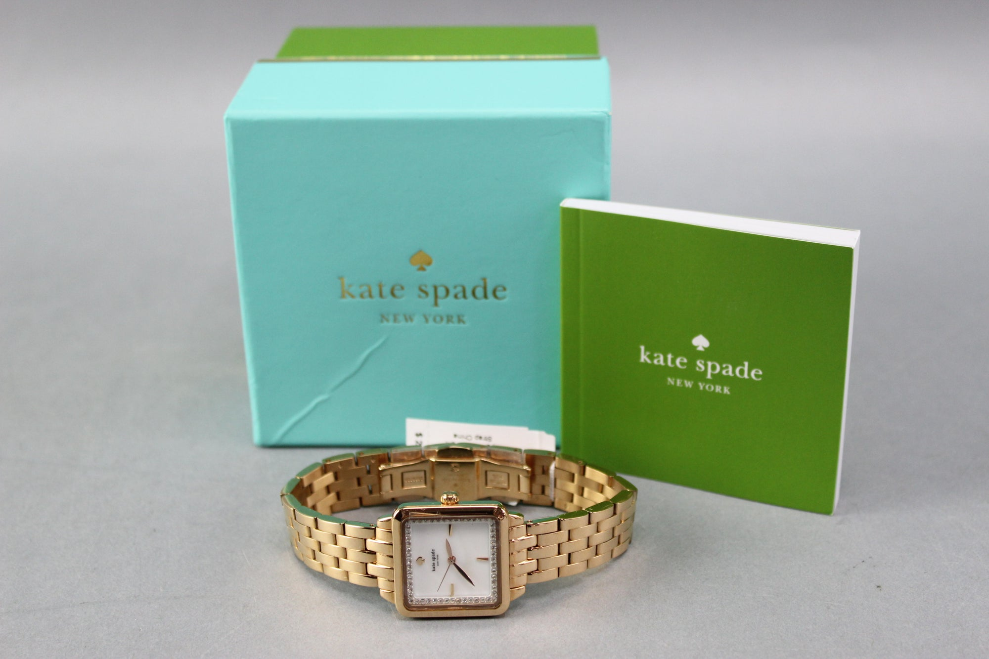 "NWT $275 Kate Spade ""In A New York Minute"" Rose Gold Stainless Wristwatch"