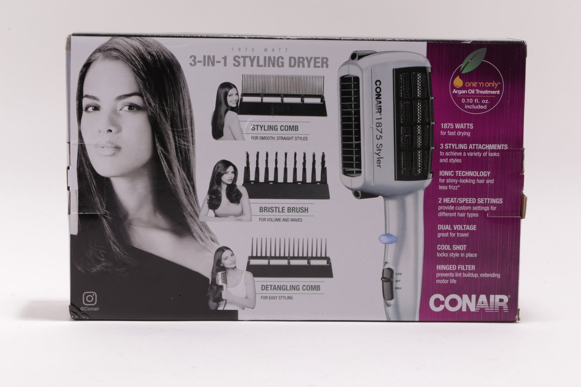 Brand New Conair 1875 Watt 3-in-1 Styling Hair Dryer SD6WMR