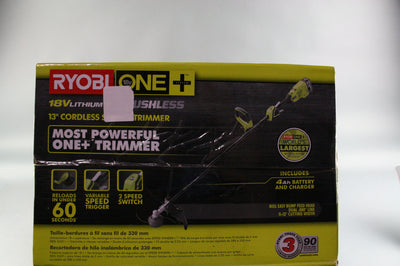 "RYOBI ONE+ P2090 18-Volt Lithium-Ion 13"" String Trimmer 4.0Ah"