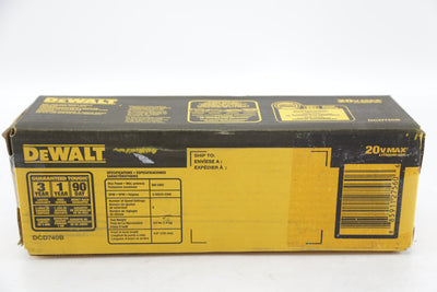 "New Dewalt DCD740B 20V Max 3/8"" 2 Speed Right Angle Drill Driver"