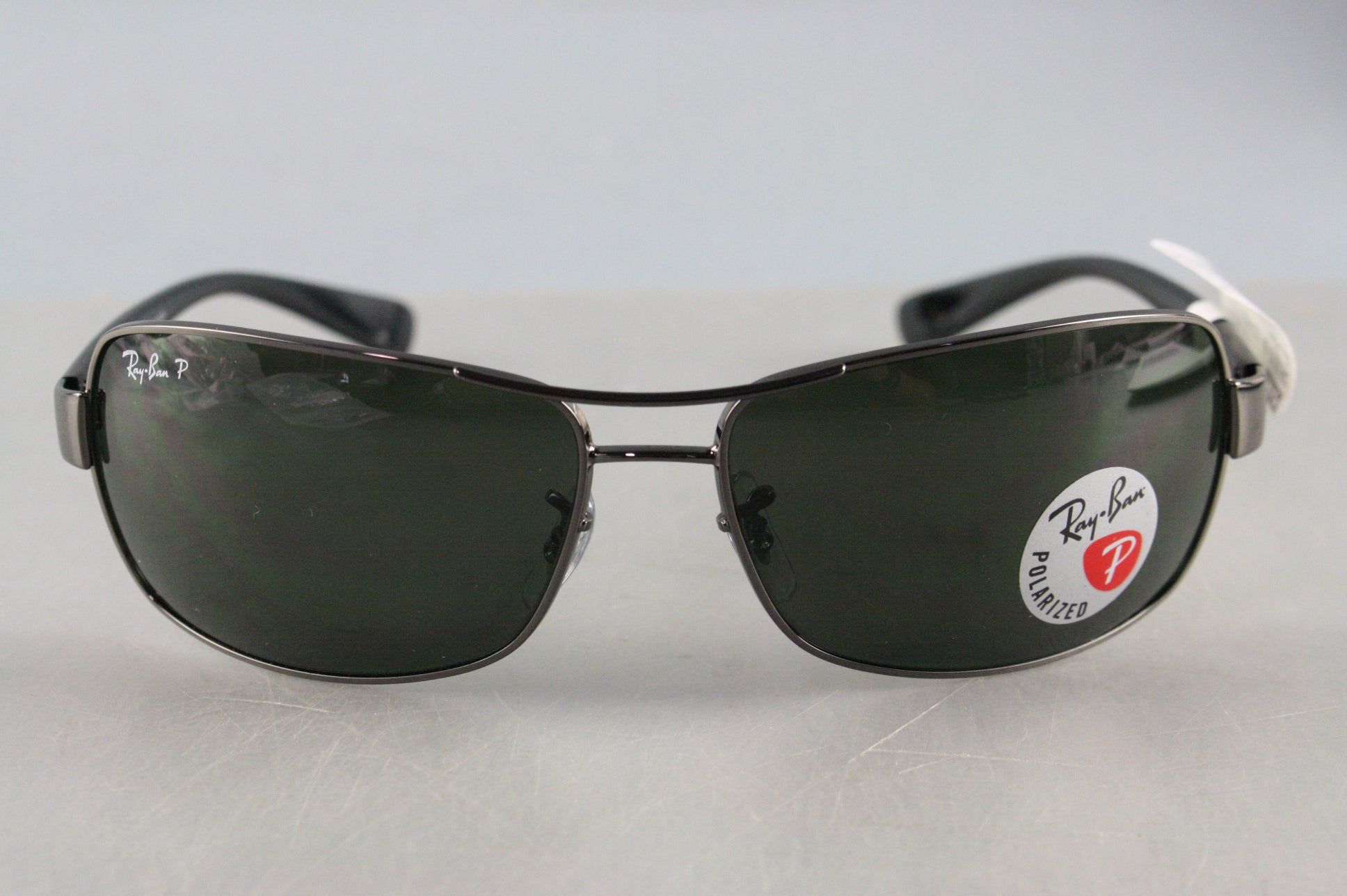 NEW RayBan RB3379-004/58 GUNMETAL green Polarized 64 mm Men's Sunglasses