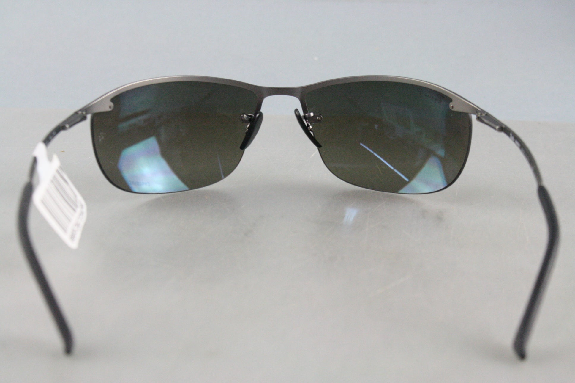 RayBan RB3542-029/5J MATTE GUNMETAL grey mirror Polarized 63mm Men's Sunglasses
