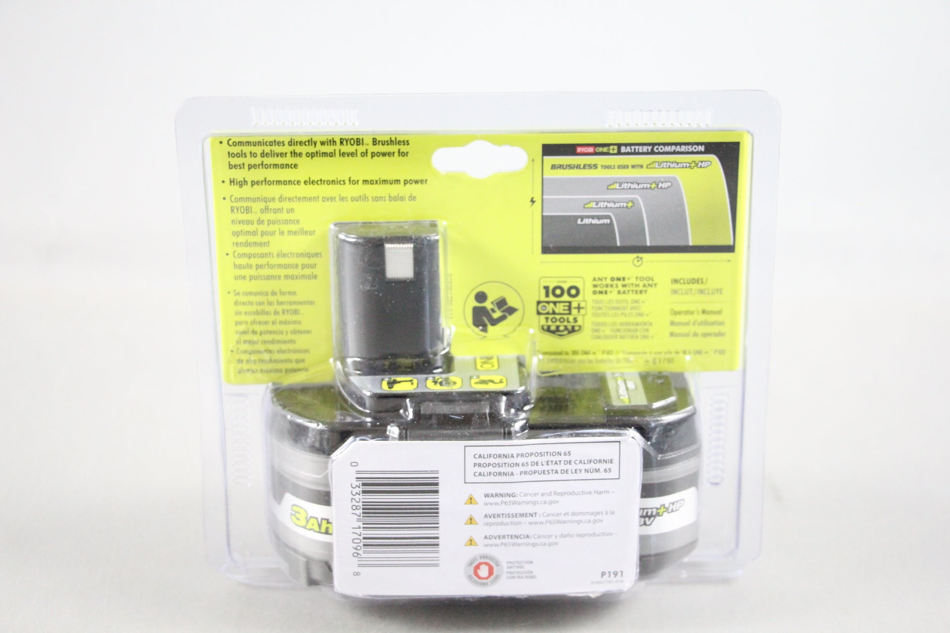 RYOBI P191 18-Volt Lithium ONE+ 3.0Ah Battery *NEW*