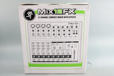 NEW Mackie Mix12FX 12-Channel 12CH Compact Mixer with Effects, 4 Mic/Line Inputs