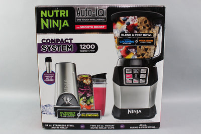 NEW Ninja Auto-IQ Nutri Ninja 40 Ounce Smooth Boost Compact System Blender