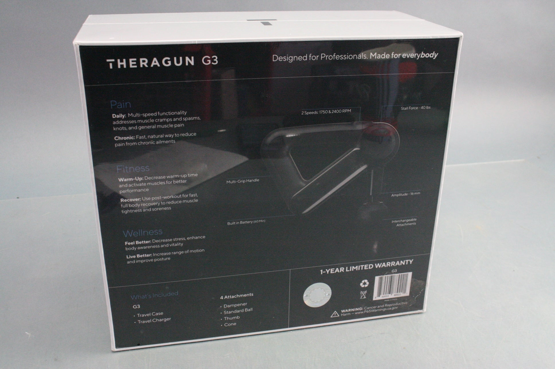 FACTORY SEALED THERAGUN G3 BLACK PROCUSSIVE THERAPY DEVICE