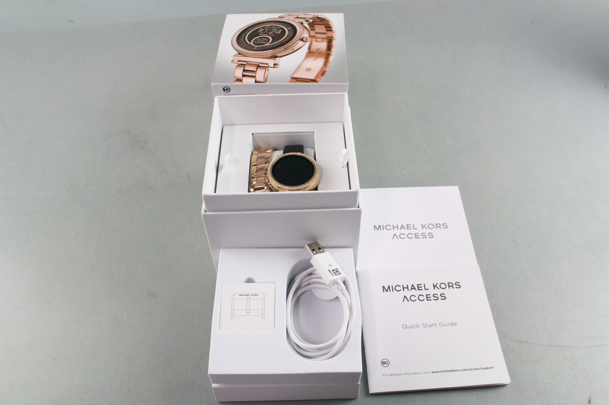 Michael Kors MKT5022 Access Unisex Sofie Rose Gold Plated Smart Watch