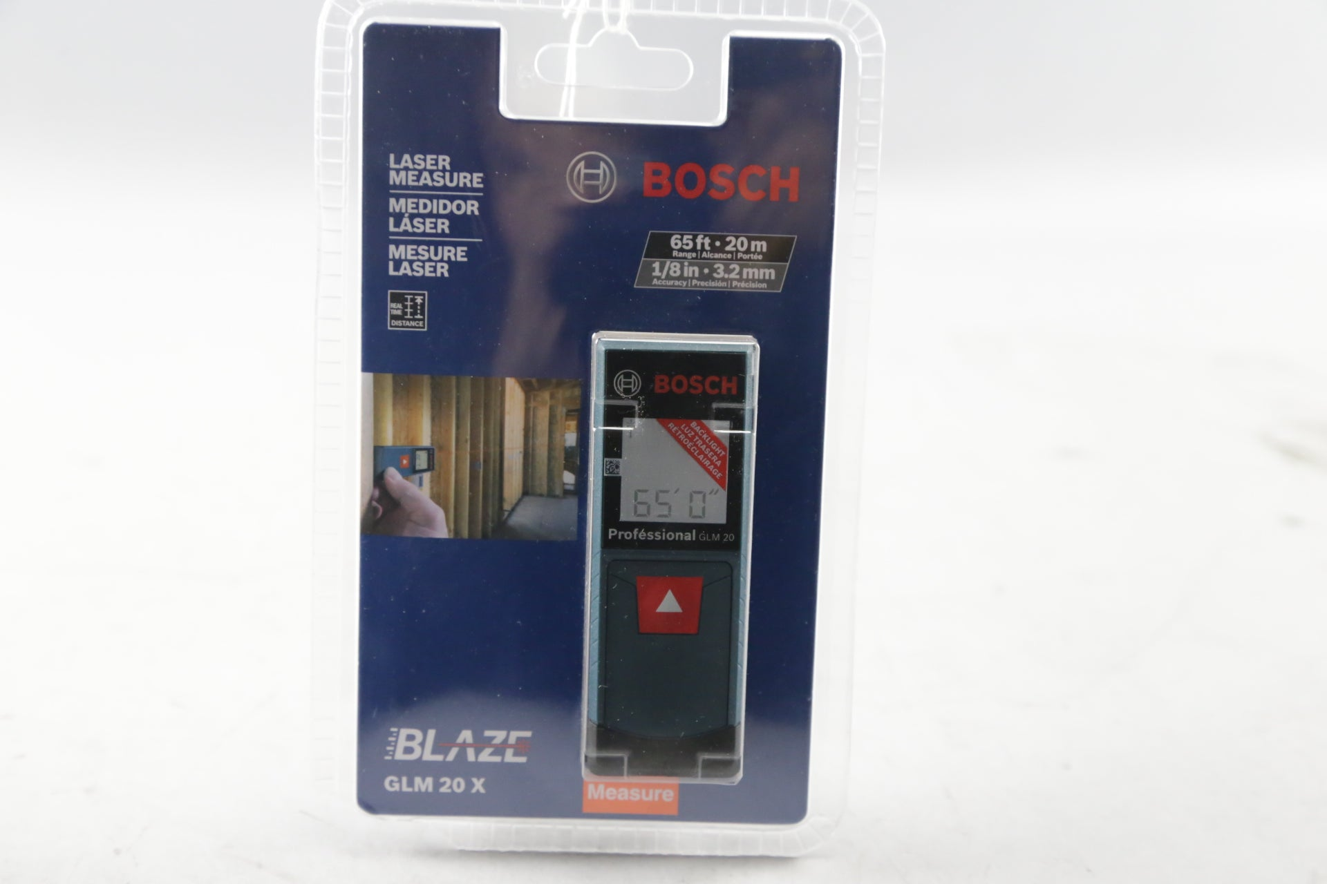 BOSCH BLAZE GLM 20 X 65ft LASER MEASURE NEW SEALED