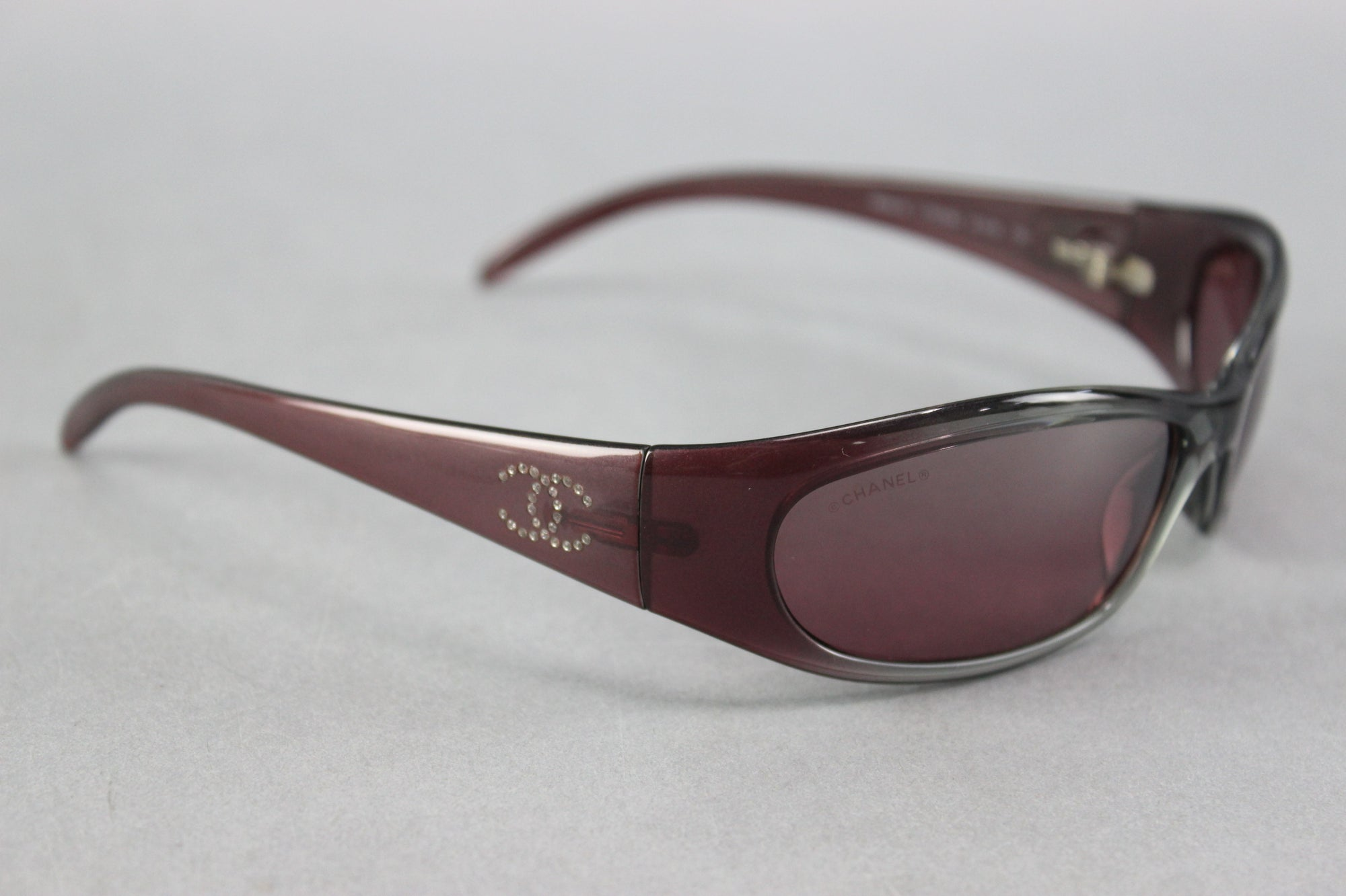 Chanel 6004-B C 702/6A Ladies Dark Gray/Violet Designer Sunglasses W/ Case