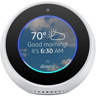 "AMAZON Echo Spot Video Home Assistant 2.5"" Screen Size WHITE"