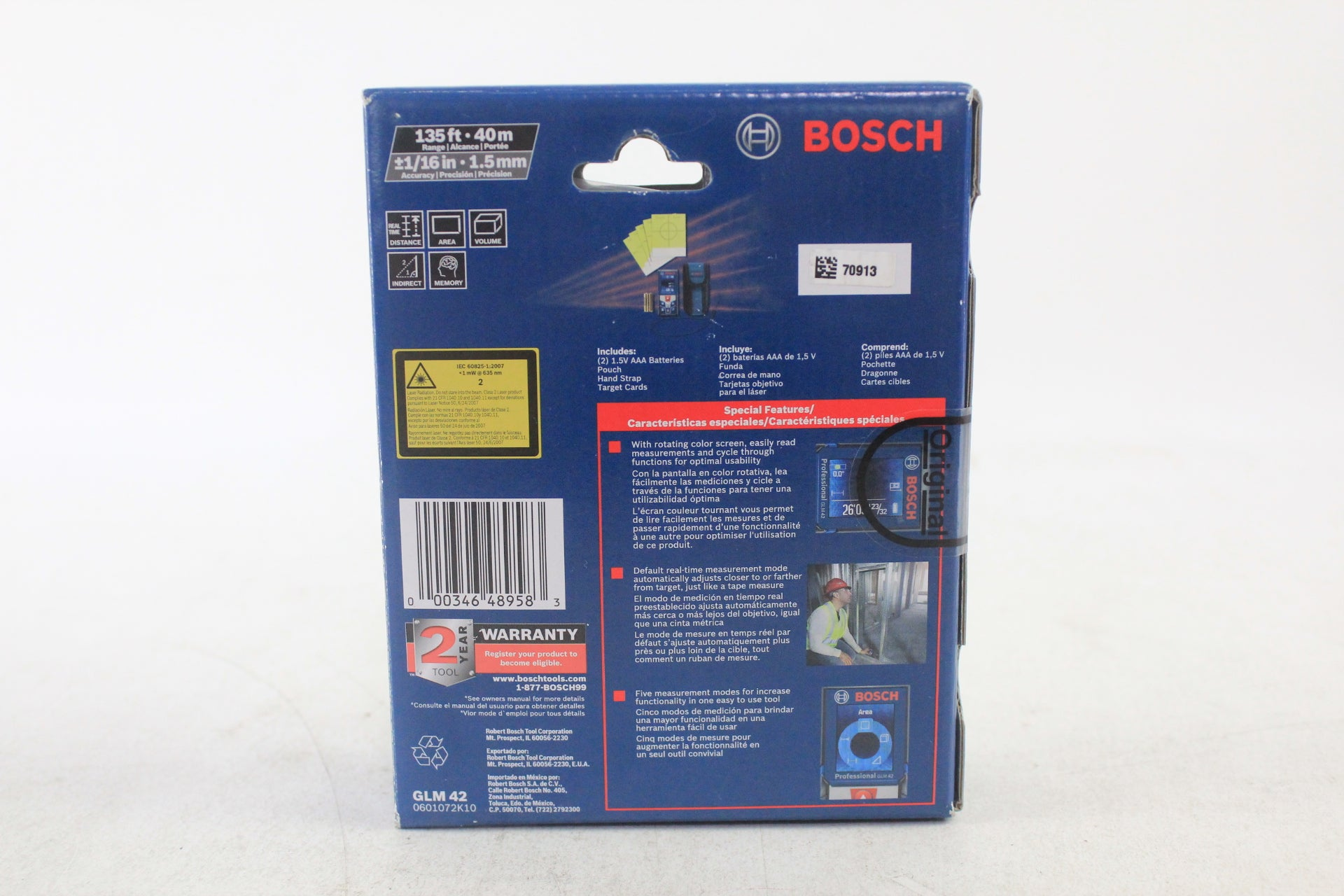 Bosch GLM 42 BLAZE 135-ft Indoor Laser Distance Measurer