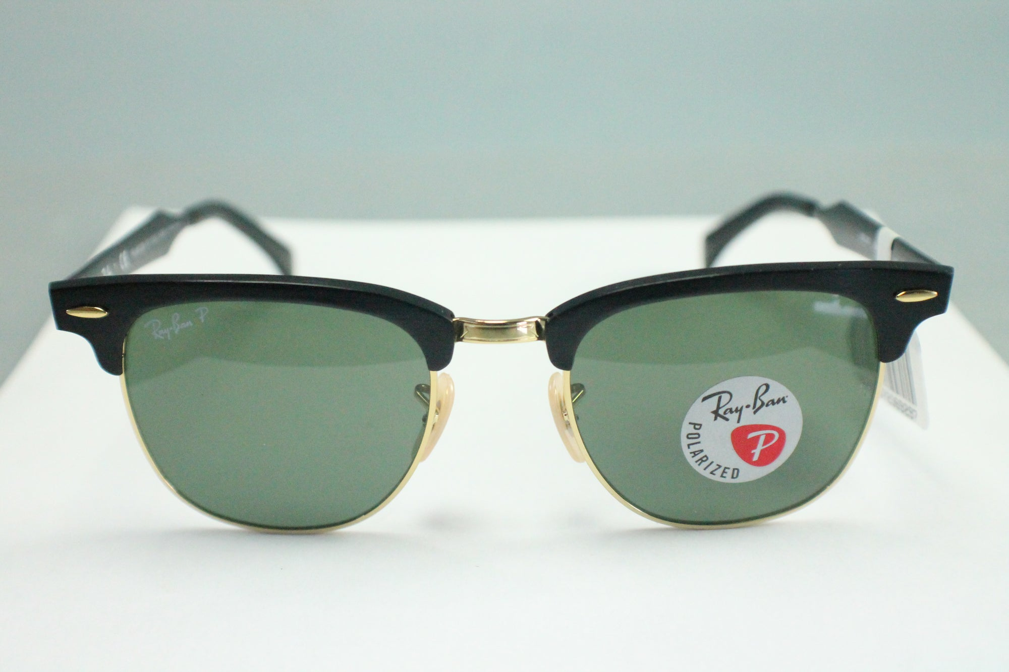 New Ray Ban Clubmaster Aluminum RB3507 136/N5 Brushed Black w/Green Polar 51mm