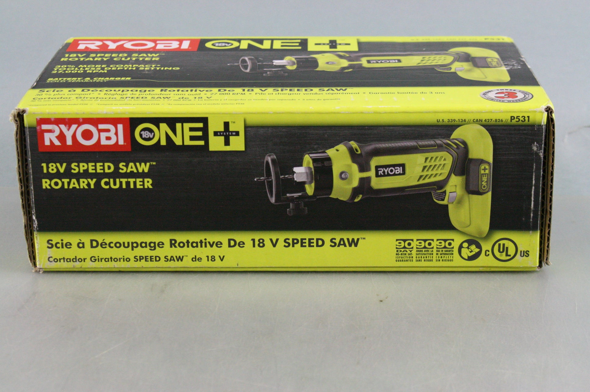 Ryobi 18-Volt ONE+ # P531 Speed Saw Rotary Cutter, 27,000 RPM (TOOL ONLY)