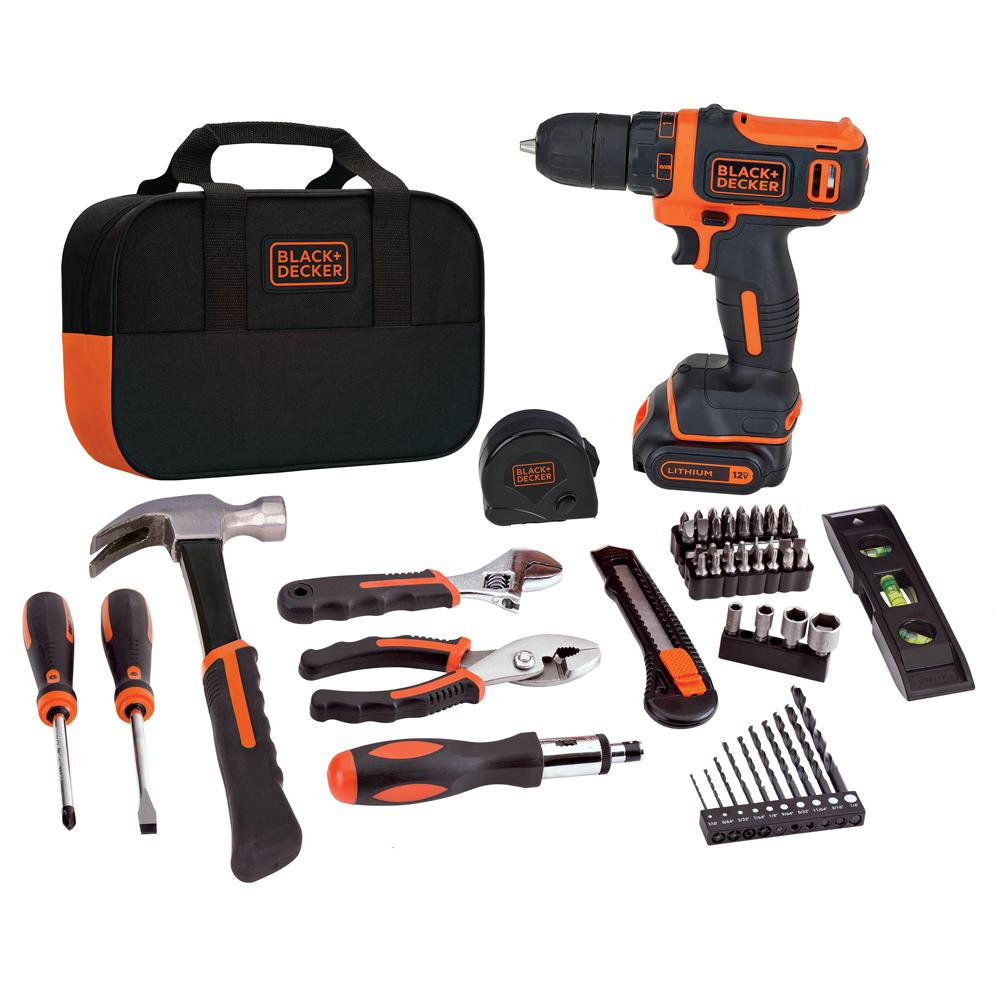 Black and Decker BDCDD12PK Complete Project Kit 12V Lithium