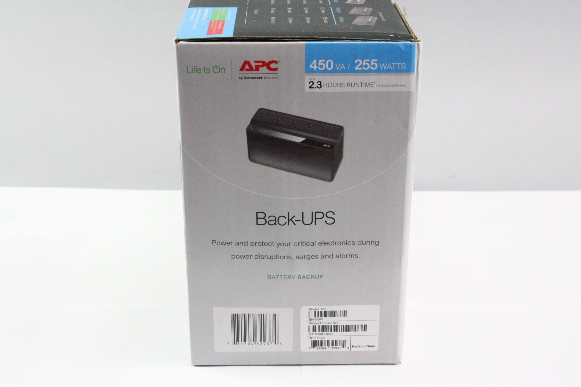 APC - Back-UPS 450VA Battery Back-Up System - Black - New In Box