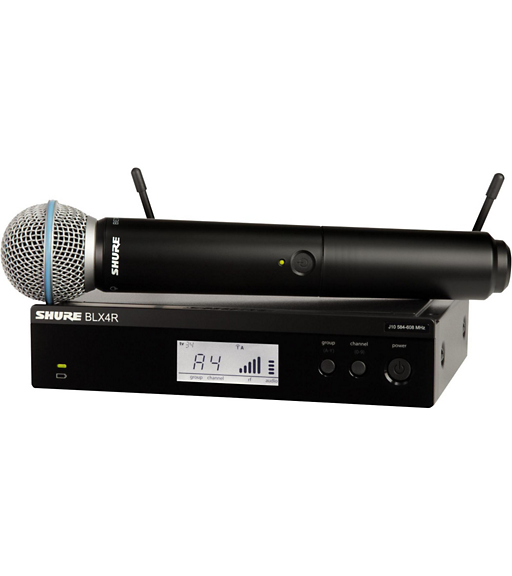 Shure BLX24R/B58-H9 Wireless System Vocal with Beta 58A Microphone