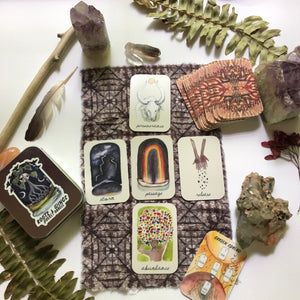 Mini Pocket Roots and Wings Oracle Deck