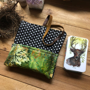 Oracle Card Bag | green leaves