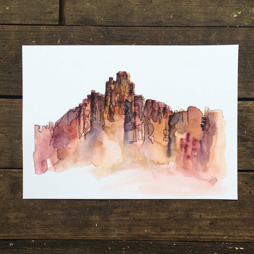 Bryce Canyon Utah watercolor National Park giclee 5x7