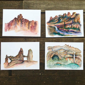 "Bryce Canyon Utah watercolor National Park giclee 5x7"" kat ryalls 2016"