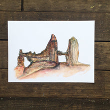 "Load image into Gallery viewer, Bryce Canyon  Utah watercolor National Park giclee 5x7"" kat ryalls"