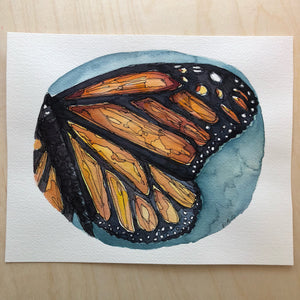 Monarch butterfly original watercolor kat ryalls New Orleans