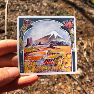 "Adventure vinyl sticker 3"" american outdoor nature watercolor national parks"