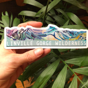 Linville Gorge Wilderness Blueridge Mountain Vinyl Sticker  6
