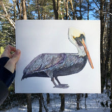 Load image into Gallery viewer, pelican watercolor giclée print on archival fine art paper signed