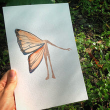 Load image into Gallery viewer, ORIGINAL Butterfly watercolor Transformation Oracle Painting by kat ryalls