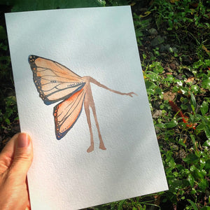 ORIGINAL Butterfly watercolor Transformation Oracle Painting by kat ryalls
