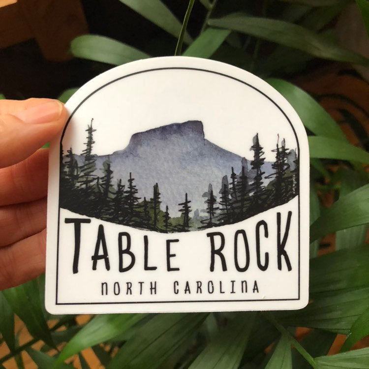 Linville Gorge Wilderness Sticker  Table Rock 3.4