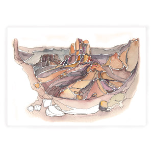 Arches National Park Desert Watercolor Print Utah